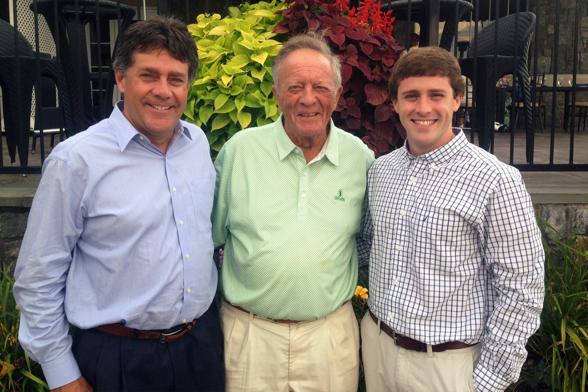 Bio-Cat founders Edward Schuler and Chris Schuler with grandson